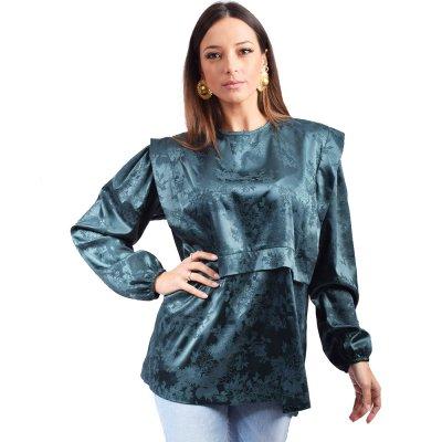 Nidodileda Astrid shirt (B-281 PEACKOCK BLUE)