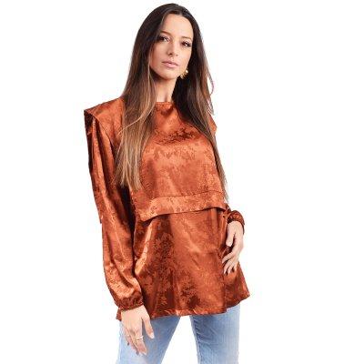 Nidodileda Astrid shirt (B-281 TERRACOTA)