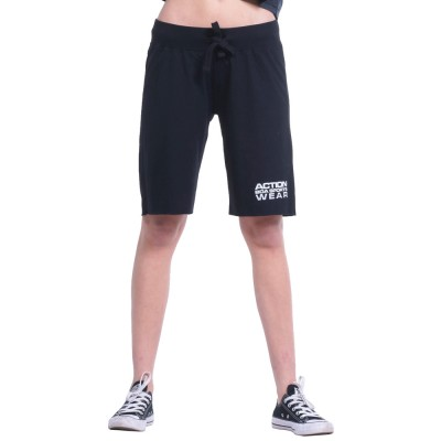Body Action WOMEN REGULAR FIT BERMUDA PANTS (031832-01 BLACK)