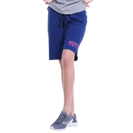 Body Action WOMEN REGULAR FIT BERMUDA PANTS (031832-01 D.BLUE)