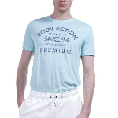 Body Action MEN ROUND NECK T-SHIRT (053925-01 VΕRΑΜΑΝ)