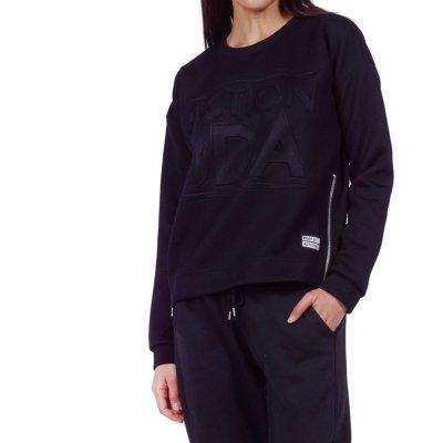 Body Action WOMEN CREW NECK JUMPER (061920-01 BLACK)
