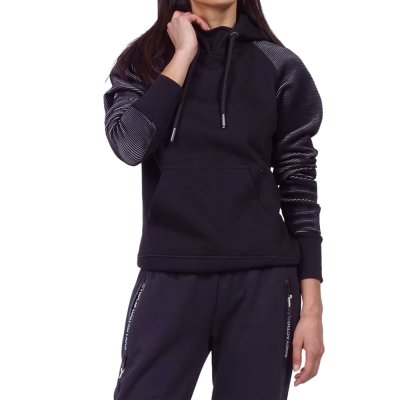 Body Action WOMEN GYM HOODIE (061923-01 BLACK)