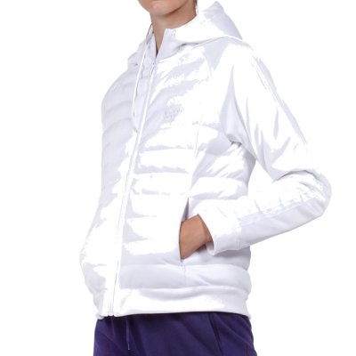 Body Action WOMEN PADDED SLIM JACKET WITH HOOD (071930-01 WHITE)