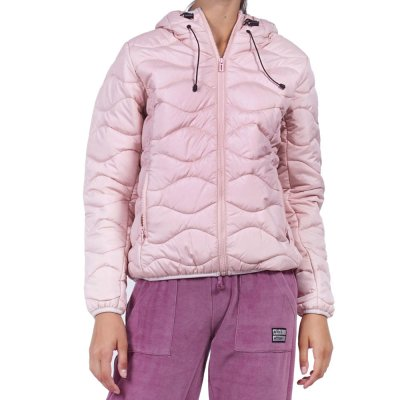 Body Action WOMEN QUILT PADDED JACKET WITH HOOD (071932-01 SΚΙΝ)