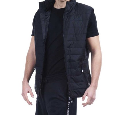Body Action MEN ULTRALIGHT QUILTED VEST (073913-01 BLACK)