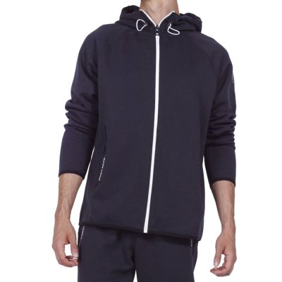 Body Action MEN FUR LINED ZIP HOODIE (073916-01 BLACK)