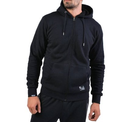 Body Action MEN FUR LINED ZIP HOODIE (073918-01 BLACK)