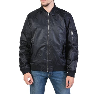 Body Action MEN VINTAGE BOMBER JACKET (073927-01 BLACK)