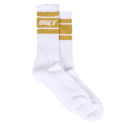 OBEY COOPER II SOCKS (100260093 WHITE-GOLDEN PALM)