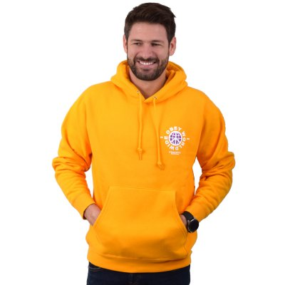 OBEY PEACEFUL RESISTANCE BOX FIT PREMIUM HOOD FLEECE (112842070 GOLD)