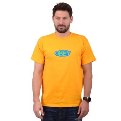 OBEY RIPPLE BASIC TEE (163082083 GOLD)