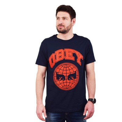 OBEY ICON PLANET PREMIUM TEE (165361984 NAVY)
