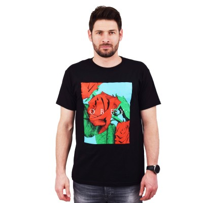 OBEY NO LOVE LOST PREMIUM TEE (165361989 BLACK)