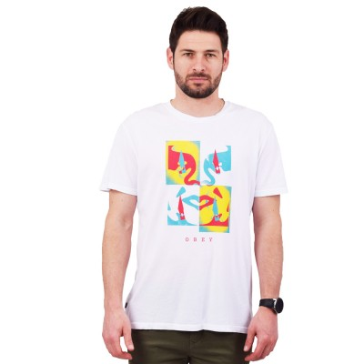 OBEY X ACTO ICON FACE SUPERIOR TEE (166141999 WHITE)