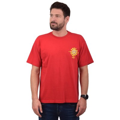 OBEY PEACEFUL RESISTANCE HEAVYWEIGHT CLASSIC BOX TEE (166912070 TOMATO)