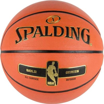 Spalding NBA GOLD SERIES SIZE 7 RUBBER BASKETBALL (83-492Z1)