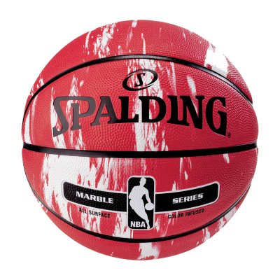 Spalding NBA MARBLE SERIES RED WITH WHITE size 7 (83-634Z1)