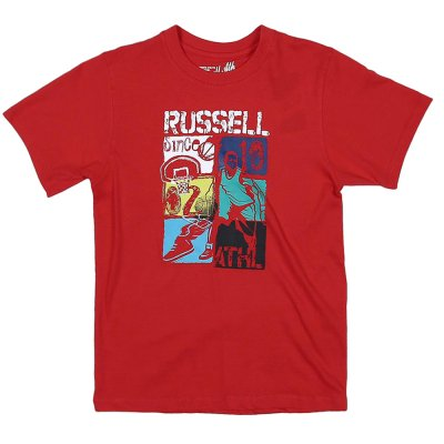 Russell S/S TEE WITH MULTICOLOUR BASKE (A8-920-1 438 RR)