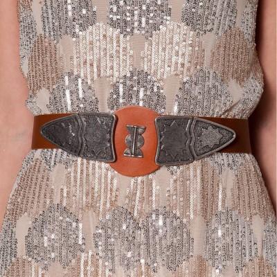 Nidodileda Armon leather double triangle belt (B-192 Brown)