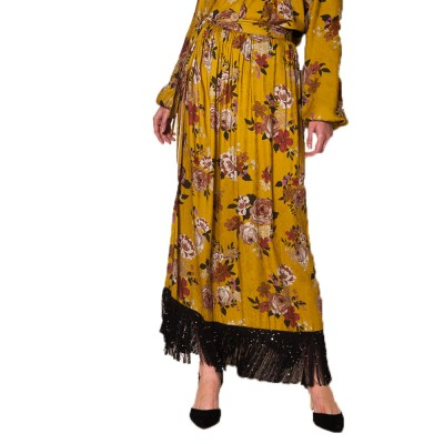 Nidodileda Alcmene skirt dijon floral wrap skirt (B-206 Floral)