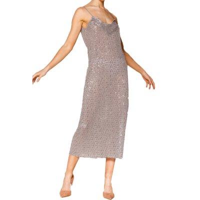Nidodileda Metis sequined lingerie dress (B-235 Grey)