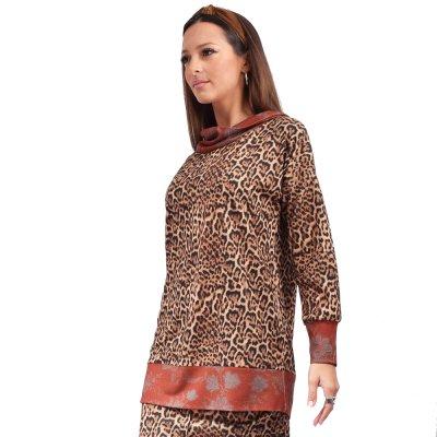 Nidodileda Zaria bronze knitted pullover (B-289 TYPOS)