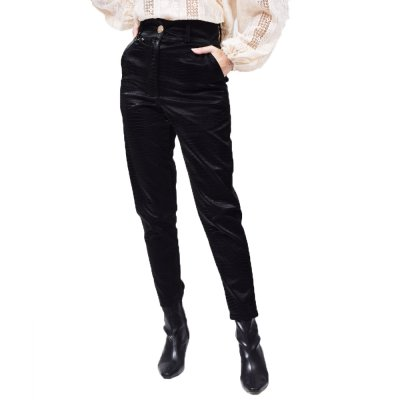 Nidodileda Tyrion black snakesjin faux leather pants (B-294 TYPOS)