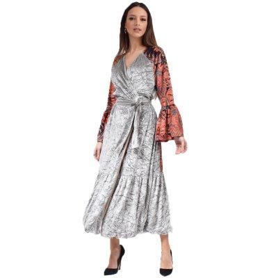 Nidodileda Benicio mint multi colored volan kimono dress (B-297 TYPOS)