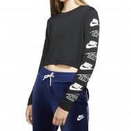 Nike W NSW TEE LS FUTURA FLIP CROP (BV7147-010)
