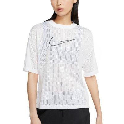 Nike Women's Short-Sleeve Mesh Top (CK1456-100)