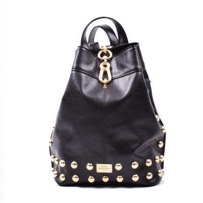 Elena Athanasiou Black n' Metal Backpack (EA-001 Black-Gold)