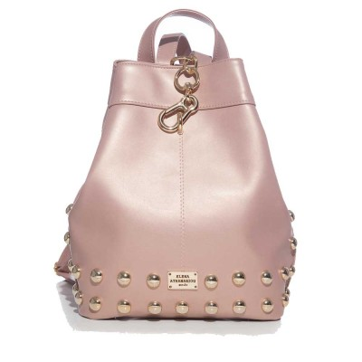 Elena Athanasiou Black n' Metal Backpack (EA-001 Dust Metalic Pink-Gold)