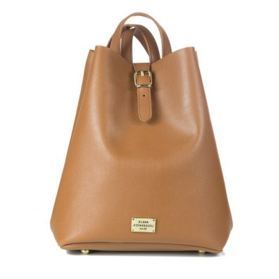 Elena Athanasiou Recycled Leather Backpack (EA-003 Cognac)