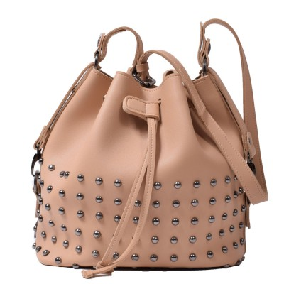 Elena Athanasiou Goldie Fresh Pouch Bag (EA-006 Vacetta-Nikel)