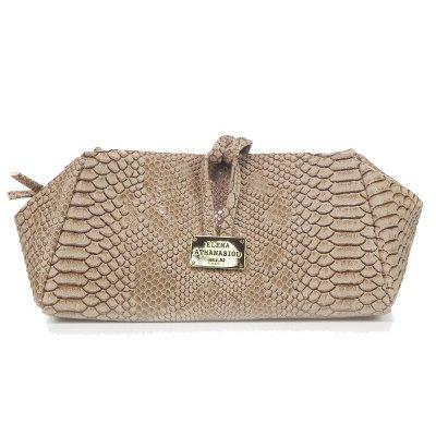 Elena Athanasioy Lunch Bag Large (EA-009 Croco Beige)