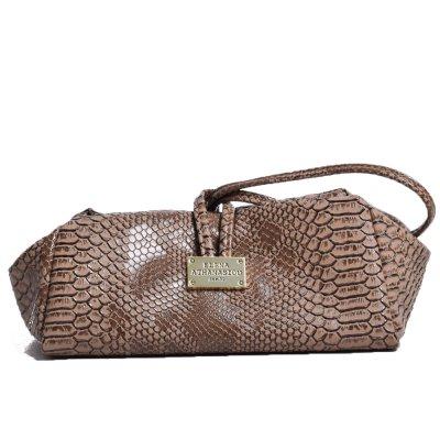 Elena Athanasioy Lunch Bag Large (EA-009 Snake Pattern Havana)