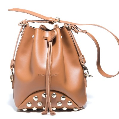 Elena Athanasiou Goldie Fresh Pouch Bag Fresh (EA-018 Cognac-Gold)