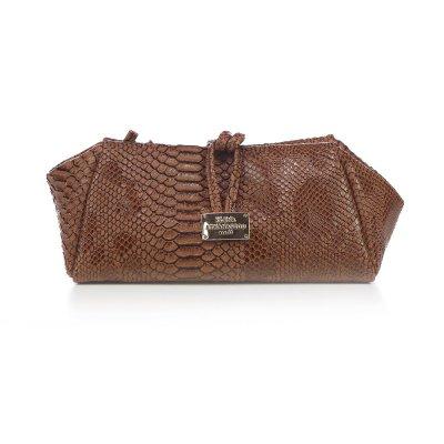 Elena Athanasiou Lunch Bag (Large) (EA-048 Croco Brown)