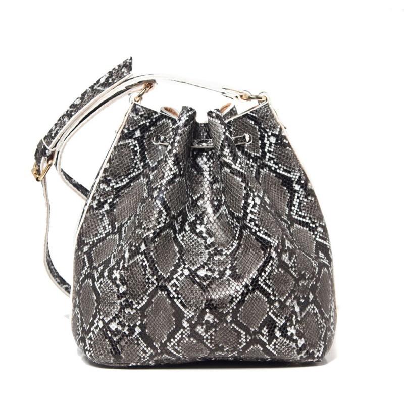 Elena Athanasiou Pouch Bag Soft (EA-050 Snake Pattern Black)