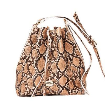 Elena Athanasiou Pouch Bag Soft (EA-050 Snake Pattern Camel)