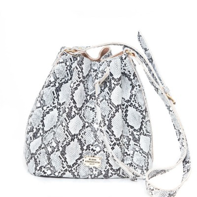 Elena Athanasiou Pouch Bag Soft (EA-050 Snake Pattern White)