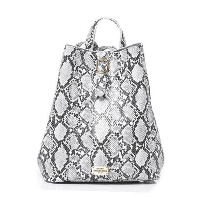 Elena Athanasiou Recycled Leather Backpack (EA-051 Snake Pattern White)