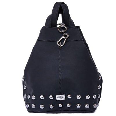Elena Athanasiou Black n' Metal Backpack Matte (EA-072 Black-Nikel)