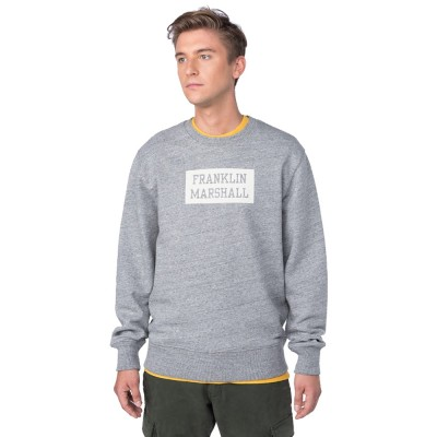 Franklin and Marshall FLEECE FLEECE ROUND NECK LONG (FLMF058AMW18 2300)