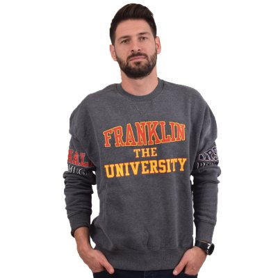 Franklin and Marshall FLEECE COTTON ROUND NECK LONG (FLMF156AMW19 2406)