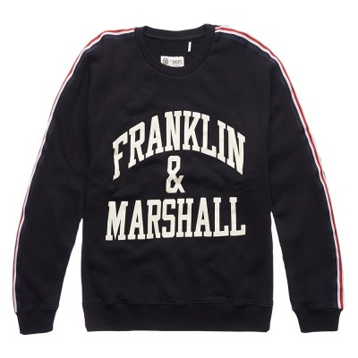 Franklin and Marshall FLEECE FLEECE ROUND NECK LONG (FLWF501AMW18 0021)