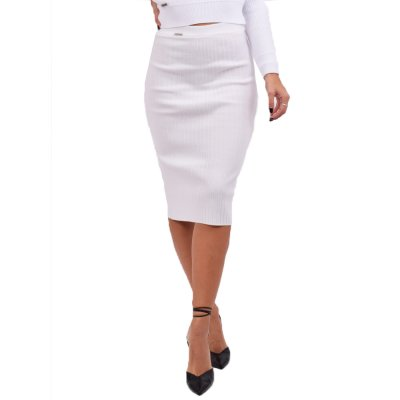 Combos Knitwear Skirt (FW20-16 WHITE)
