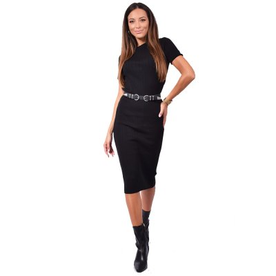 Combos Knitwear Dress (FW20-18 BLACK)