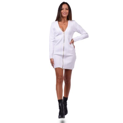 Combos Knitwear Dress (FW20-22 WHITE)